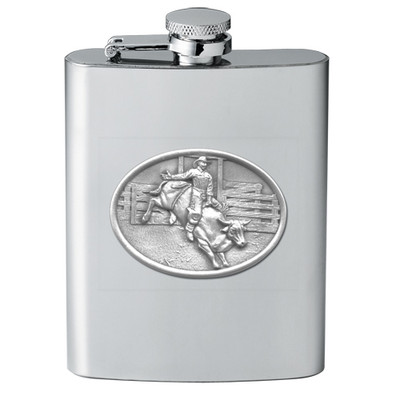Bull and Cowboy Flask