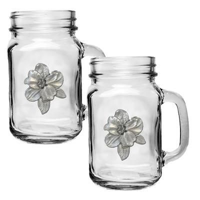 Apple Blossom Mason Jar Mug Set of 2