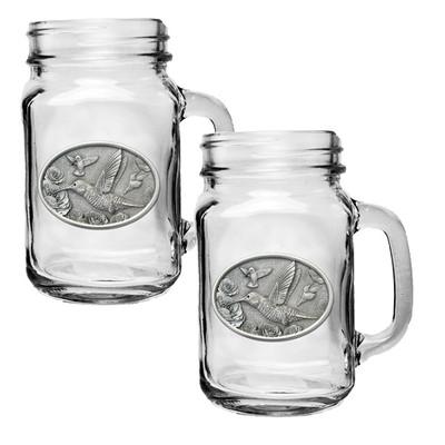 Hummingbird Mason Jar Mug Set of 2