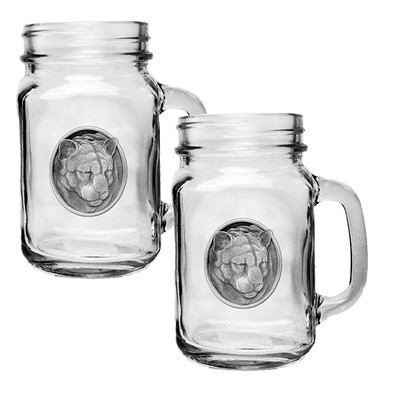 Mountain Lion Mason Jar Mug Set of 2