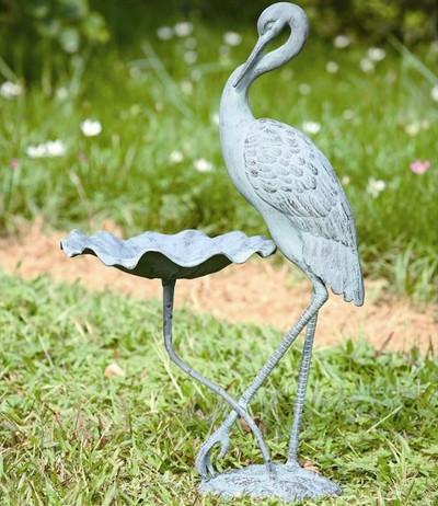 Crane Birdbath   33086