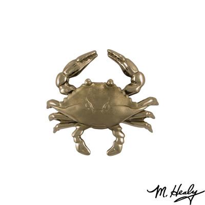 Blue Crab Nickel Silver Door Knocker