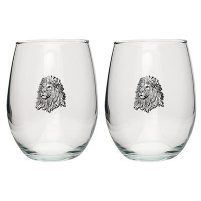 Lion Stemless Goblet Set of 2