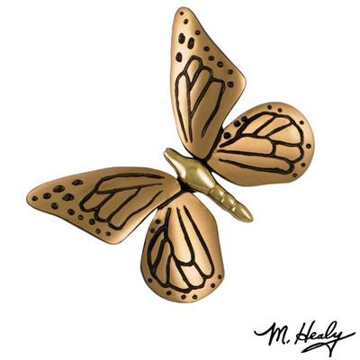 Butterfly Brass and Bronze Door Knocker