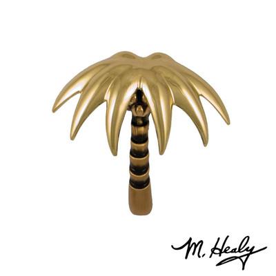 Palm Tree Brass and Bronze Door Knocker