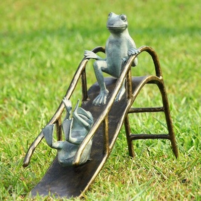 Frogs Sliding Garden Sculpture | 33789