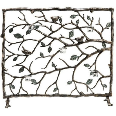 Birds Branches and Leaves Fireplace Screen | 33488