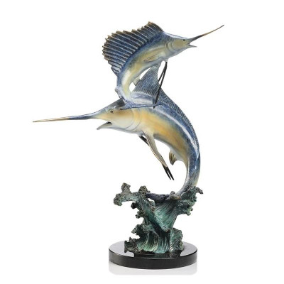 Keys Double Marlin and Sailfish Sculpture | 31524