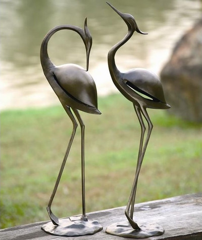 Garden Heron Pair Sculptures | 33350