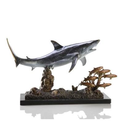 Shark with Prey Sculpture | 30969