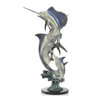 "Marlin and Sailfish ""Imperial Slam"" Sculpture 