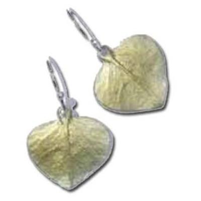 Eucalyptus Drop Wire Earrings   Nature Jewelry