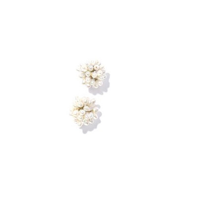 Dandelion Cluster Pierced Earrings | Nature Jewelry