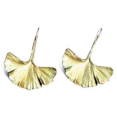 Ginkgo Earrings   Nature Jewelry