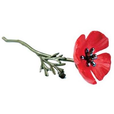 Red Poppy Pin | Nature Jewelry