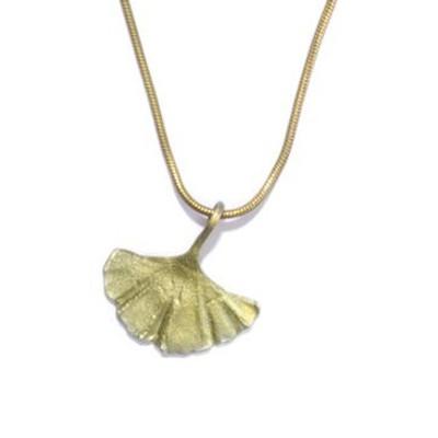 Gingko Single Leaf Pendant   Nature Jewelry