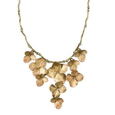 Hydrangea Contour Necklace | Nature Jewelry