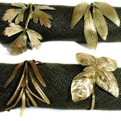 Italian Herb Napkin Rings Set of 4