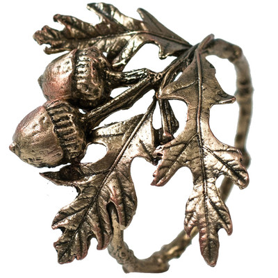 Acorn and Oak Napkin Rings Set of 4