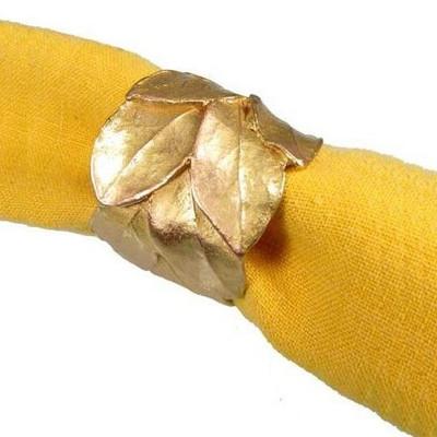 Bay Leaf Napkin Rings Set of 4