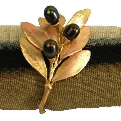 Olive Napkin Rings Set of 4