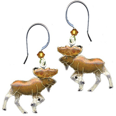 Moose Cloisonne Wire Earrings | Nature Jewelry