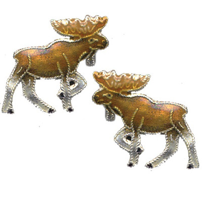 Moose Cloisonne Post Earrings | Nature Jewelry