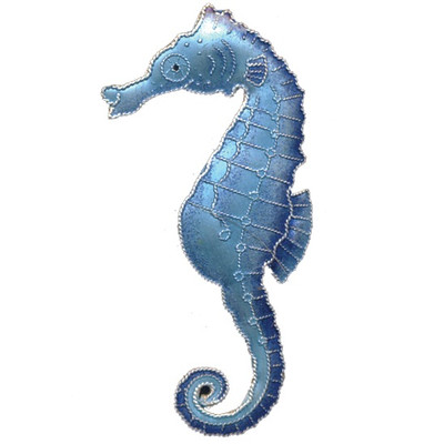 Blue Seahorse Cloisonne Pin | Nature Jewelry