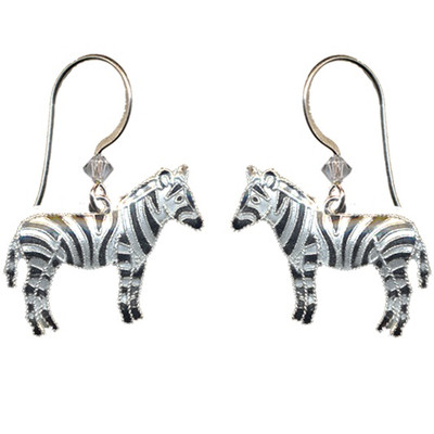 Zebra Cloisonne Wire  Earrings | Nature Jewelry
