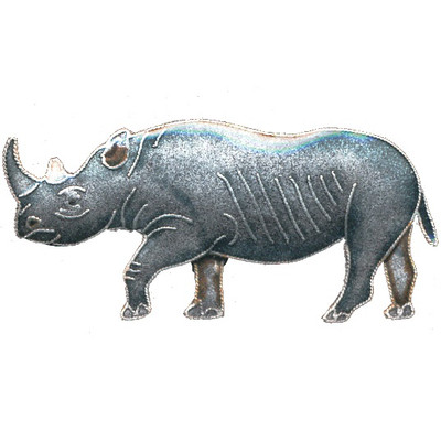 Rhino Cloisonne Pin   Bamboo Jewelry   bj0061p