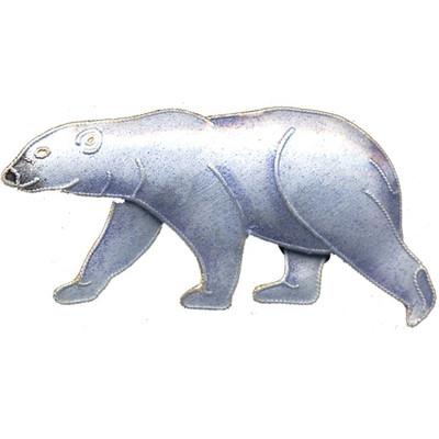Polar Bear Cloisonne Pin   Nature Jewelry