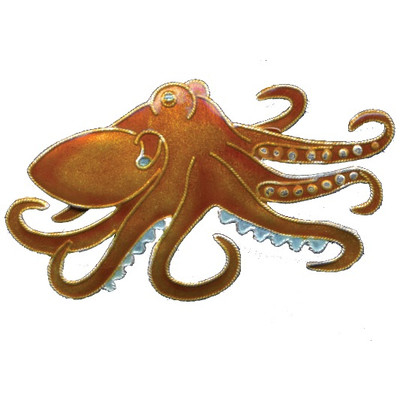 Octopus Cloisonne Pin | Nature Jewelry