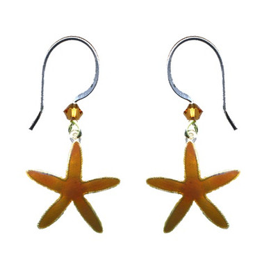 Sea Star Wire Earrings | Nature Jewelry