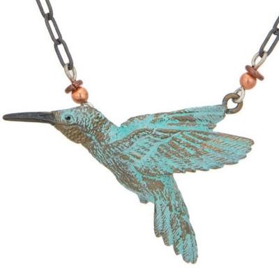 Hummingbird II Beaded Necklace | Nature Jewelry