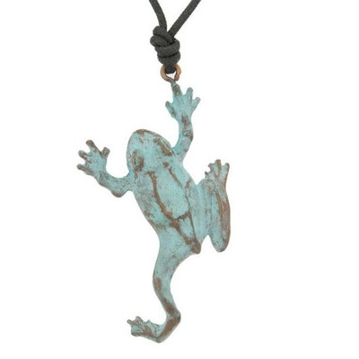 Tree Frog Bronze Pendant Necklace | Nature Jewelry