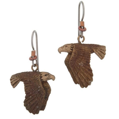 Eagle Flying Earrings | Nature Jewelry
