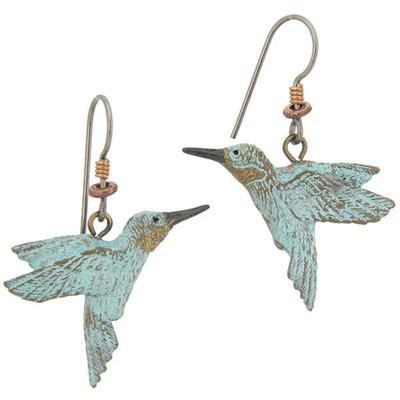 Hummingbird Fishhook Earrings | Nature Jewelry