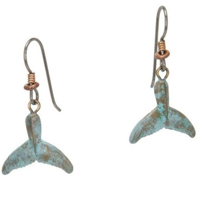 Whale Tail Wire Earrings | Nature Jewelry