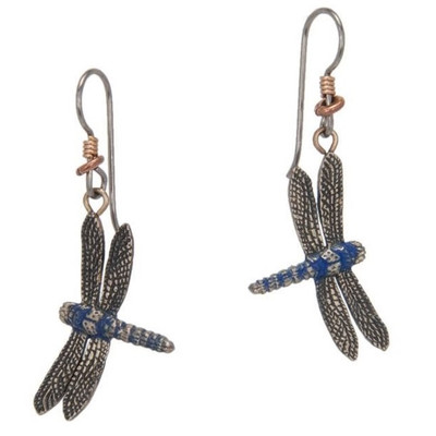 Dragonfly Blue Earrings | Nature Jewelry