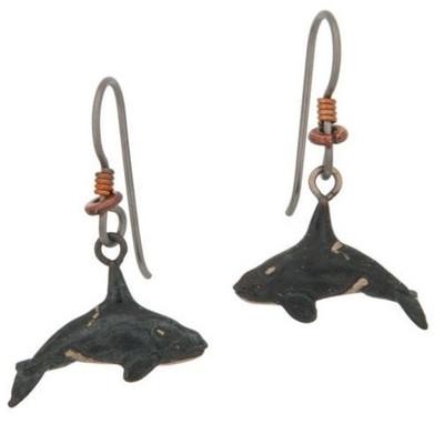Orca Bronze Earrings | Nature Jewelry