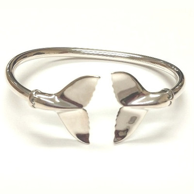 Whale Tail Sterling Silver Bracelet | Nature Jewelry