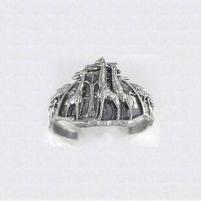 Giraffe Sterling Silver Cuff Bracelet | Nature Jewelry