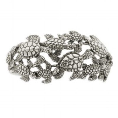 Sea Turtle Sterling Silver Cuff Bracelet | Nature Jewelry