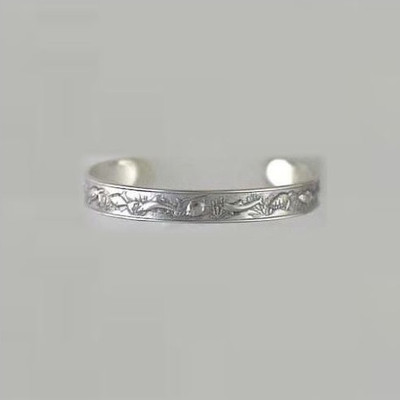 Dolphin Sea Life Sterling Silver Cuff Bracelet | Nature Jewelry