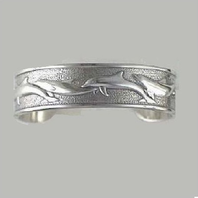 Dolphin Sterling Silver Cuff Bracelet | Nature Jewelry