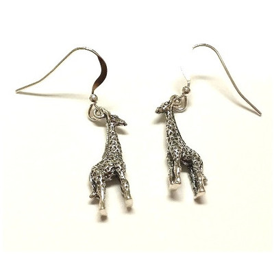 Giraffe Sterling Silver Wire Earrings | Nature Jewelry