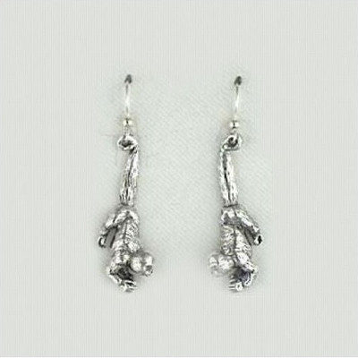 Humboldt Monkey Sterling Silver Wire Earrings | Nature Jewelry
