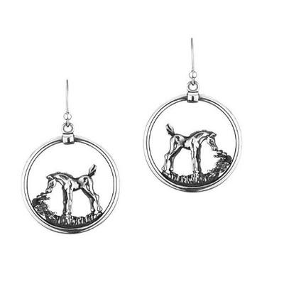 Arabian Horse Foal Sterling Silver Wire Earrings | Nature Jewelry