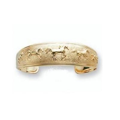 Horse 14K Gold Cuff Bracelet | Nature Jewelry