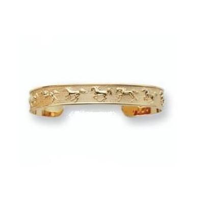 Horse Bracelet 14K Gold Cuff Bracelet | Nature Jewelry